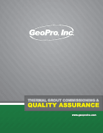GeoPro Thermal Grout Commissionsing and Quality Assurance